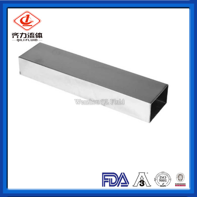 Sanitary Stainless Steel Pipe Fitting Square Tube