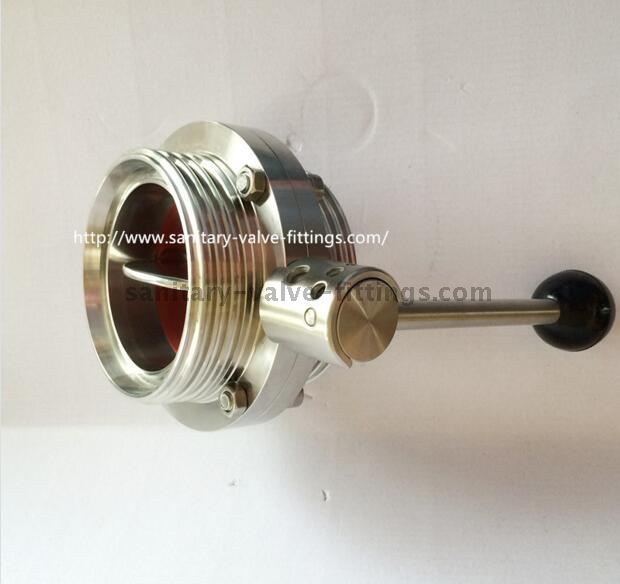 Dn80 316L Sanitary Stainless Steel Butterfly Valve Manual/Pneumatic Operated