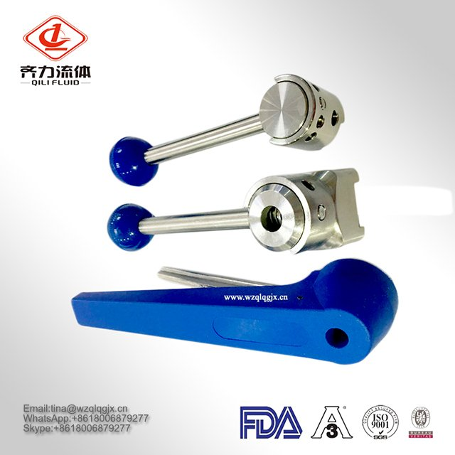 Plastic / Stainless Steel 3A Standard Butterfly Valves Handle Multi-Position Handle
