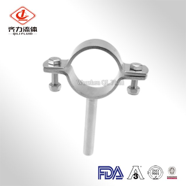 Stainless Steel Sanitary Pipe Saddle Clamp With Round Bar