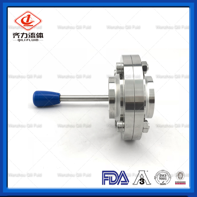 SS304 SS316L Sanitary Stainless Steel Welded Butterfly Valve