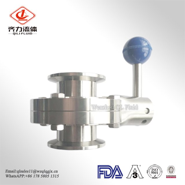 Stainless Steel 304 316L Sanitary Clamp Butterfly Valve with Pull Handle