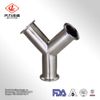 Manufacturer Sanitary Stainless Steel Pipe Fitting Clamp/Weld Y Tee