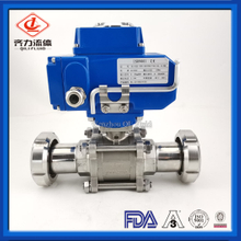 Stainless Steel 2 Way or 3 Way Electric Ball Valves with Nut Ends