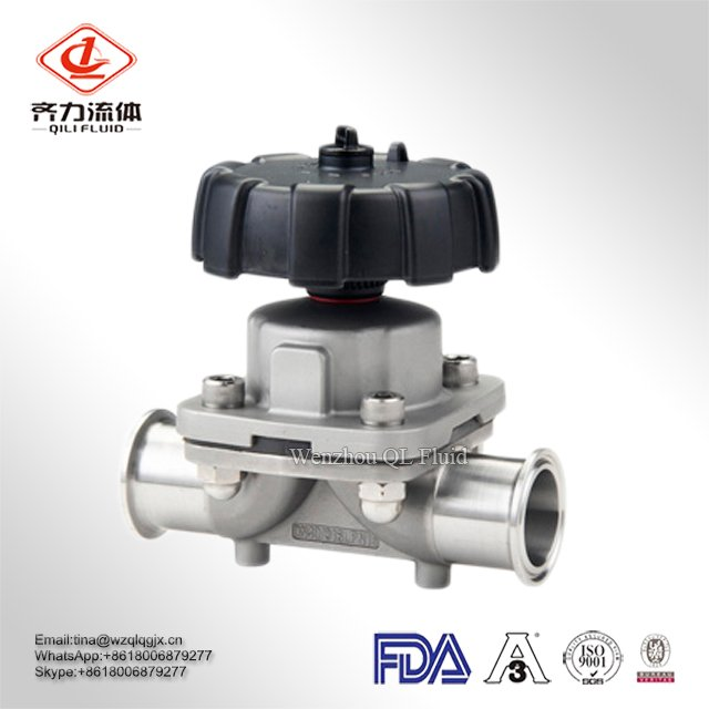 Sanitary Welded Straight Brewing PTFE Diaphragm Valve