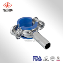 Sanitary Stainless Steel Pipe holders with Blue Sleeve
