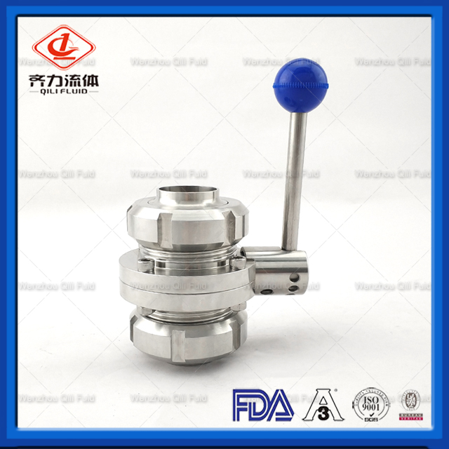 Sanitary Butterfly Valves Union End With Pull Handle