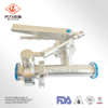 Sanitary Tee with 3A Standard Butterfly Valves with SS Handle