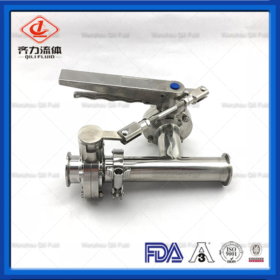 Sanitary Stainless Steel Three Way Style Butterfly Valve