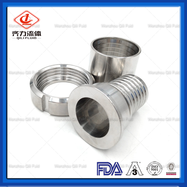 14MPHR Sanitary Style Crimp Stem Clamp End Hose Shank