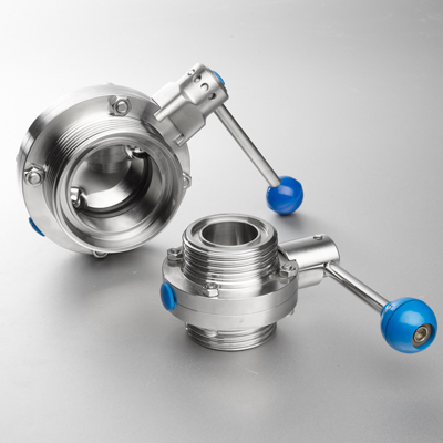 Sanitary Stainless Steel Butterfly Valve With Pull Handle Threaded End