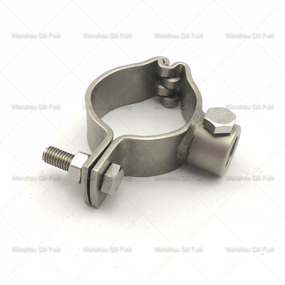 Sanitary Stainless Steel Screw End Round Pipe Holder