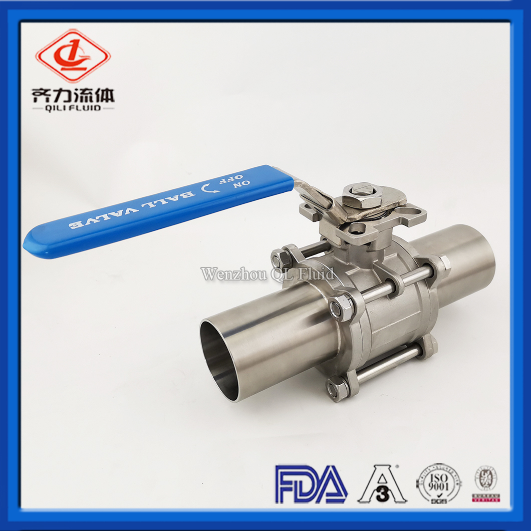 Stainless Steel Two Way Long Length Encapsulated Weld End Ball Valve