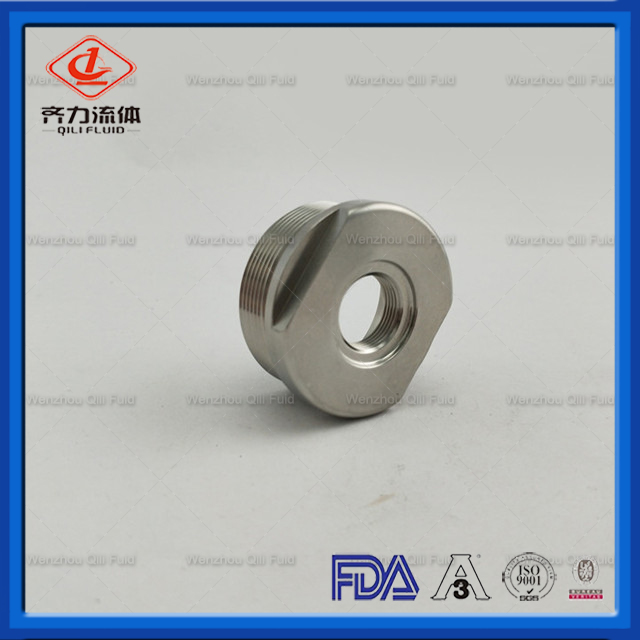Sanitary Stainless Steel Threaded Tube To Pipe Adapter Ferrule