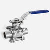 3PC Sanitary Butt Weld Ball Valve With Directing Mounting Pad