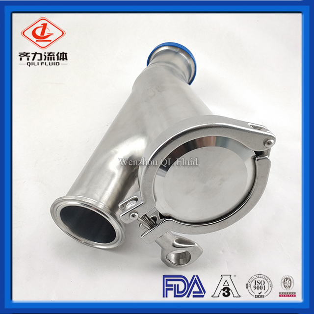 Stainless Steel Sanitary Y-type Non Return Check Valve