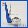 Sanitary Food Grade Threaded/male & Welding Butterfly Valve with Gripper Handle