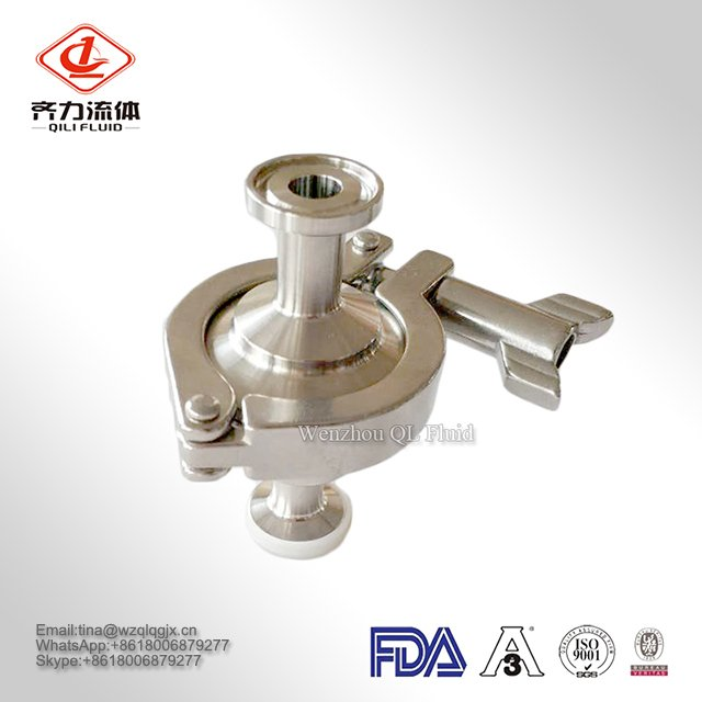 High Quality Sanitary Stainless Steel Check Valve Clamp/Thread Manufacturer