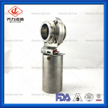 Sanitary Stainless Steel Clamped Pneumatic Butterfly Valve