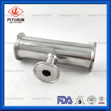 Sanitary Stainless Steel Clamped Fittings Short Outlet Reducing Tee