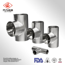 Sanitary Grade Stainless Steel Polish Surface Weld Tee